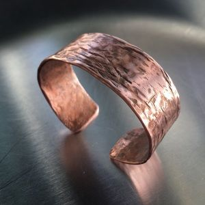 Artisan crafted copper bracelet